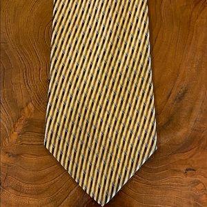 Bugatti Designer 100% Silk Stripe Pattern Logo Tie